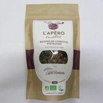 L'apéro croustillant raisins de corinthe pistaches LES FRUITS DETENDUS,120