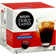 Café en dosettes Lungo Decaffeinato DOLCE GUSTO, 16 unités soit 112g