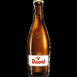 Bière blonde artisanale de spécialité belge DUVEL 8,5°, bouteille de 75cl