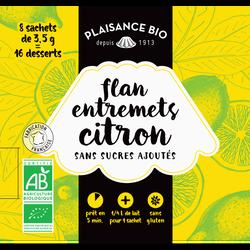 Préparation pour flan-entremets non sucré citron PLAISANCE BIO,  28g