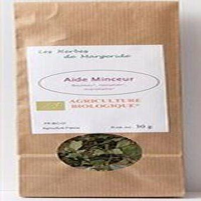 Les herbes en Margeride, Aide minceur (bouleau, noisetier, mariolaine), Bio 30g