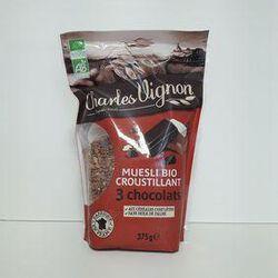 Céréales bio muesli 3 chocolats Charles Vignon