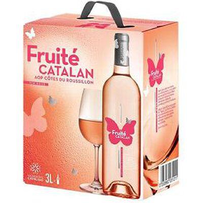 Fruité Catalan AOP côtes du roussillon vin rosé BIB 3 L