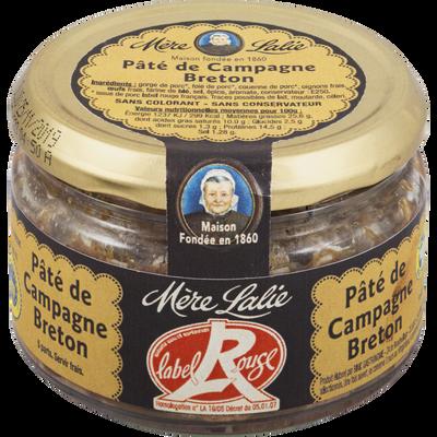 Véritable pâté de campagne Breton Label Rouge MERE LALIE, 200g