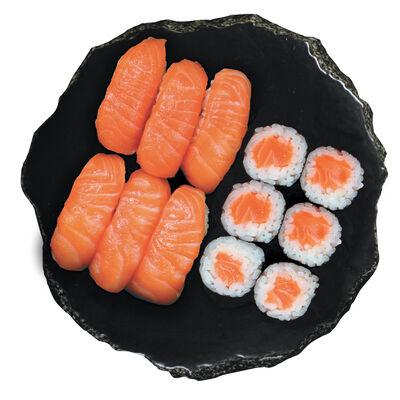 6 SUSHI SAUMON,6 MAKI SAUMON 210G