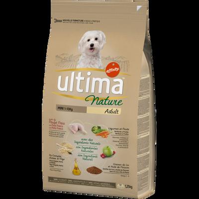 Croquettes pour chiens minis au poulet ULTIMA NATURE, sac de 1,25kg