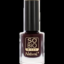 Vernis à ongles, soin et couleur, à l'huile de ricin biologique 07 rouge velours - Sans étui