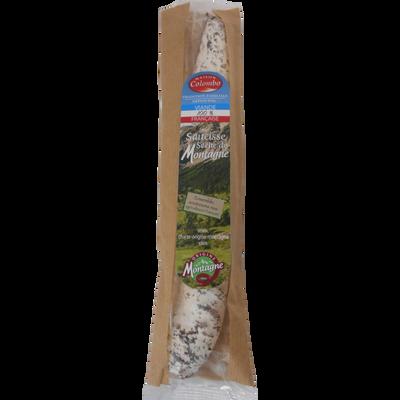 Saucisse séche droite pur porc supérieure produit de montagne maison,C OLOMBO, 250g