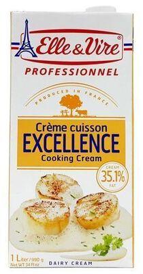 Crème cuisson Excellence, ELLE&VIRE Professionnel, brick 1l