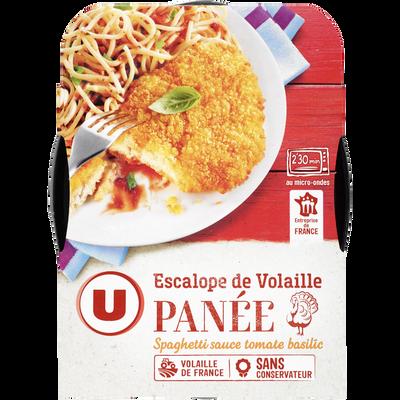 Escalope de dinde panée et spaghetti U, 300g