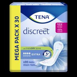 Serviettes pour incontinence extra discreet TENA Lady megapack, x30