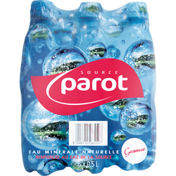 Eau minérale naturelle PAROT, 6x50cl