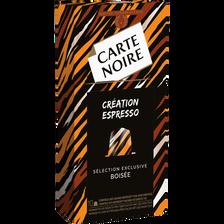 Café boisé CARTE NOIRE, 10 capsules, 50g