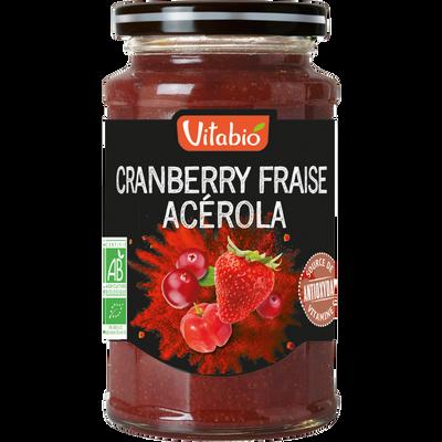 Délice de cranberry fraise acérola VITABIO, 290g
