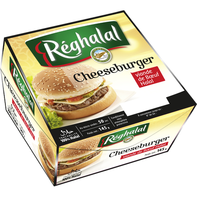Cheeseburger steak de boeuf REGHALAL, 145g