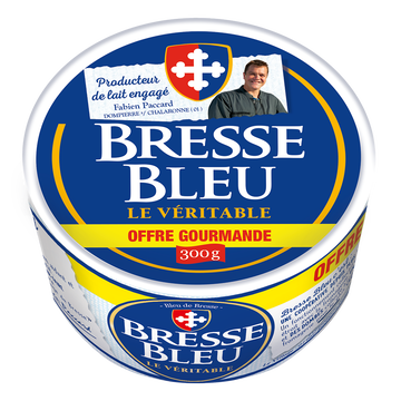 Bresse Bleu Fromage Pasteurisé Bresse Bleu, 300%mg, 300g Offre Gourmande