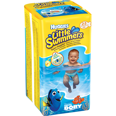 Culottes de bain Little Swimmers HUGGIES, taille 2/3, x12