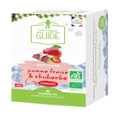Infusion étonnante pomme fraise rhubarbe TISANE DU GUIDE x20
