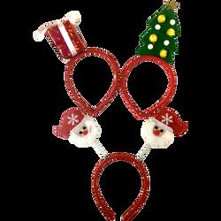 Serre-tête de Noël-modèles assortis:cadeau,sapin,Père Noël