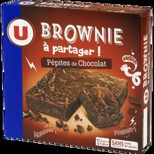 Brownie choco pépites U, paquet 285g