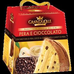 Panettone pur beurre pépite de chocolat et poire GRANDUCALE, 750g