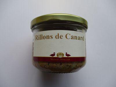 RILLONS DE CANARD MAISON MITTEAULT BOCAL 180G