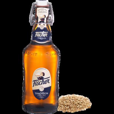 Bière tradition FISCHER, 6°, bouteille en verre consigné de 65cl