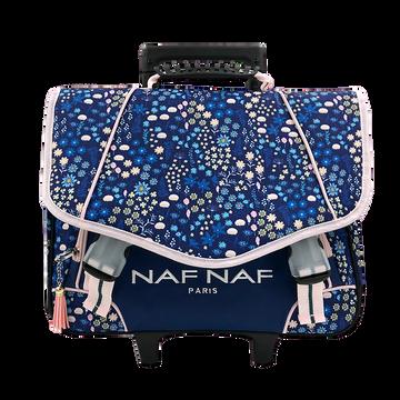 Naf Naf Cartable À Roulettes 2 Compartiments Naf Naf, 34x16x41cm