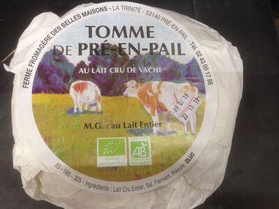 Tomme de PRE EN PAIL au lait cru BIO entier de vache, 45% MG, 200g