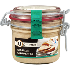 Foie gras entier U SAVEURS, bocal de 180g