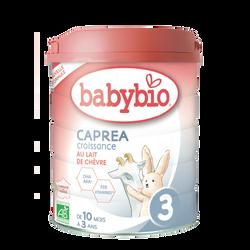 Lait en poudre pour nourrissons caprea 3 BABYBIO, de 10 mois à 3 ans,800g