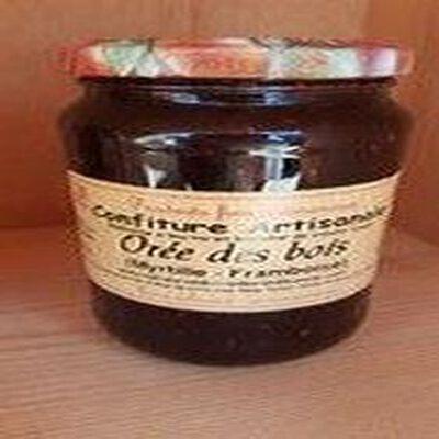 Confiture Orée des bois (framboise et myrtille)  Recette du Jura 430G