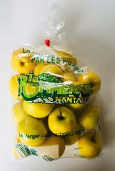 Pomme Golden, LA POMMERAIE NANTAISE, calibre 115/135, catégorie 1, Treillières, sachet 2kg