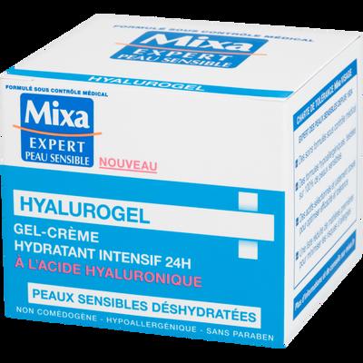 Gel crème hyalurogel Expert Peau Sensible MIXA, 50ml