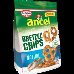 Bretzel'chips nature ANCEL, sachet de 100g