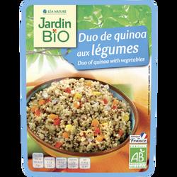 Duo de quinoa aux légumes bio JARDIN BIO JARDIN BIO, doypack 250g