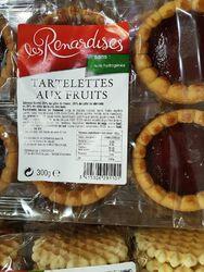 6 Tartelettes aux fruits fraise/abricot/fruits des bois 300G Les Renardises