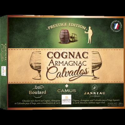Boîte prestige chocolat cognac,armagnac et calvados ABTEY, x20 200g