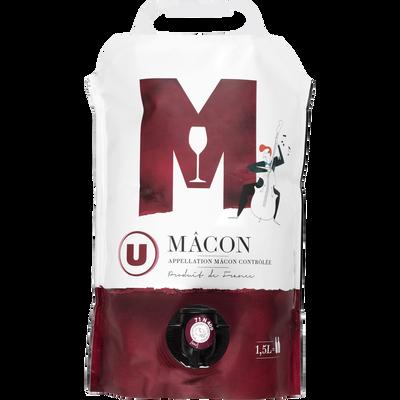 Vin rouge AOC Macon U, fontaine à vin de 1,5l