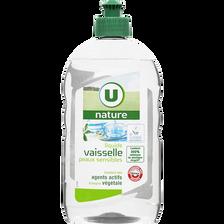 Liquide vaisselle peaux sensibles U NATURE, flacon de 500ml