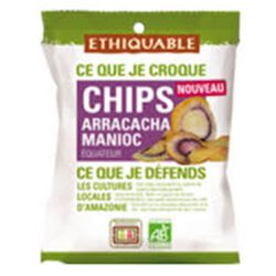 CHIPS ARRACACHA MANIOC ETHIQUABLE BIO 60G