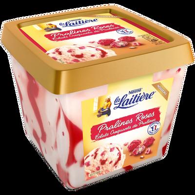 Crème glacée pralines roses LA LAITIERE, pot de 430g