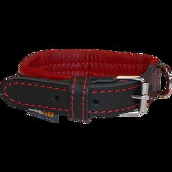 Collier cuir noir rouge éco yago S AIME 27/35cm