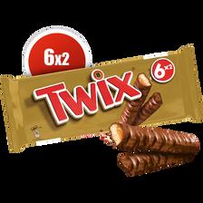 Barres au chocolat et caramel TWIX, 6 unités, 300g