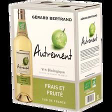 Vin blanc IGP Pays d'Oc AUTREMENT BIO, fontaine à vin de 3l