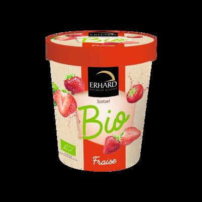 Sorbet fraise bio, ERHARD, 325g