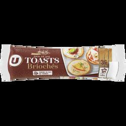 Toasts ronds briochés spécial foie gras U, paquet de 250g