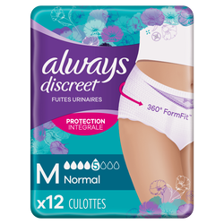 Sous-vêtements pour incontinence normal ALWAYS, taille M,  x12