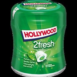 Chewing gums sans sucre menthe verte chlorophylle 2Fresh HOLLYWOOD, 40dragées, 88g