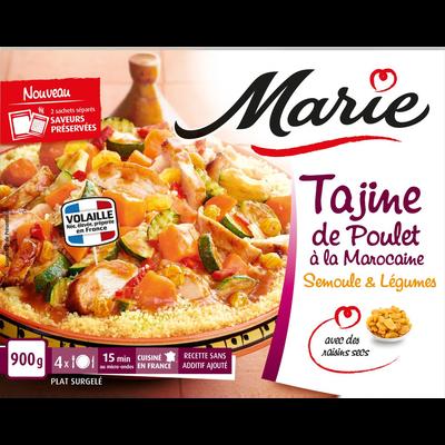 Tajine de poulet à la marocaine et légumes MARIE, 900g